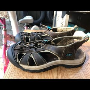 Keen Newport H2 Leather Brown Sport Sandals Size 9